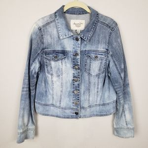 American Rag acid wash jean jacket L